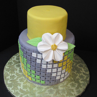 I Saw A Cake Similar To This On Pinterest And Decided To Try It All Fondant With Gumpaste Flower I saw a cake similar to this on Pinterest and decided to try it. All fondant with gumpaste flower.