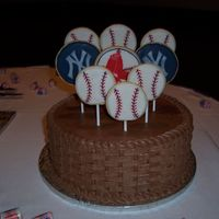 Baseball Cookie/basket Cake