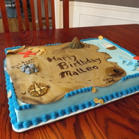 Pirate Cake Pirate birthday cake for a 6 year old. Grandmother insisted that it HAD to be a sheet cake! :( But I was happy with how it turned out,...