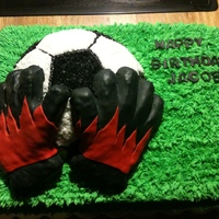 Soccer Birthday Theme  I made this for my nephew who wanted me to make an imitation of his soccer gloves that he wears while he is a goalie. I did the best i...