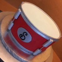 Groom's Snare Drum The bride emailed me a picture she found off the internet and asked for this cake. After looking around on CC I found the exact cake. I...