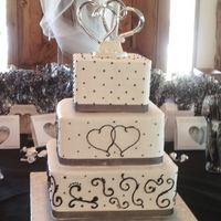 Steward Wedding The bride also sent a picture of this cake and it was originally a 5 tier wedding cake and she picked the layers she loved the most. First...