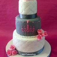 Pink & Grey Wedding Cake