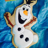 "Olaf   Olaf from ""Frozen""Big Cookie 10x6in."