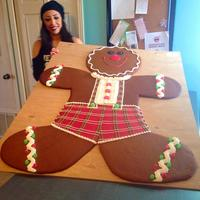 "Giant Ginger Bread Man 4'h. x 38""w. Thx for looking! :)"