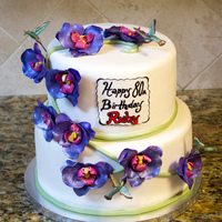 Hummingbird Orchid Cake Orchids and tiny hummingbird's for a big birthday. Hummingbirds are gumpaste and made using Hawthorn Hills mould. Shiping to the US...