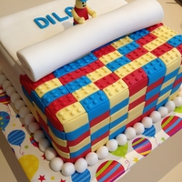 Lego Cake For Dilan For my godson who loves Lego. I received the most crushing and wonderful hug for this cake. Vanilla cake with sour-cream ganache and...