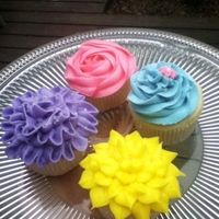 Flower Cupcakes done for a friends daughter's fairy birthday party.
