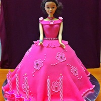 Disney Princess Cake   Disney Princess fondant cake for a 5-year old.
