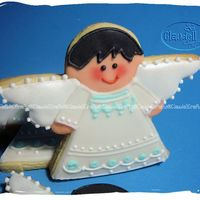 Angel Cookie Royal Icing decoration.