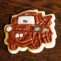 Tow Mater Sugar Cookies Sugar cookies with rolled buttercream