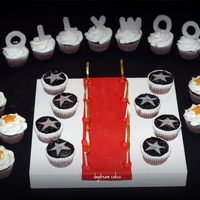 Hollywood Cupcakes Hollywood birthday cupcakes. The walk of fame stars have the names of the birthday girl's favorite stars. The Hollywood letters are...