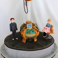 Doctor Who Birthday Cake That Glows In The Dark  This is a Doctor Who cake that I made for my daughter's birthday. Everything is edible except for the plastic tube coming out of the...
