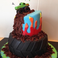 Monster Truck Jam   Made this for my son today-he loved it! It was a fun cake to make.