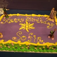 Tangled Sheet Cake Chocolate cake with Vanilla Buttercream