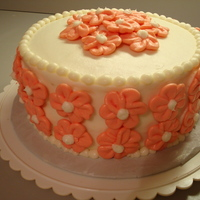 "Daisy Cake  Key Lime Cake with Key Lime Buttercream (Cocobean's recipe). They asked for a pink and white cake with ""maybe pink daisies, or..."