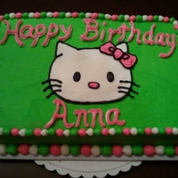 Hello Kitty Chocolate cake with vanilla buttercream.
