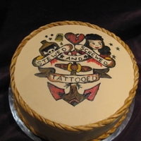 Old School Sailor Jerry Tattoo Cake