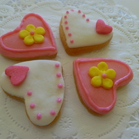 Tiny Valentines Cookies Sugar Cookie With Fondant And Royal Icing Decor Tiny valentines cookies. Sugar cookie with fondant and royal icing décor.