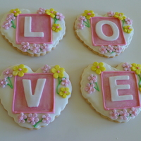 Valentines Day Cookies Royal Icing With Fondant Decor Valentines Day cookies. Royal icing with fondant décor.