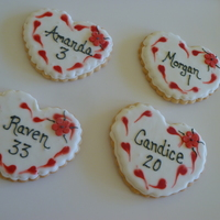 Valentines Cookies For Girls Basketball Team Valentines cookies for girls basketball team.
