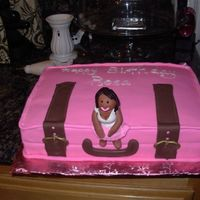 Suitcase Cake This was a great idea I got here from all the CC pictures. This was birthday cake for my aunt who lives to travel. She loved it although it...