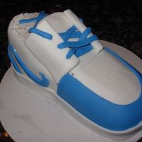 Sneaker Cake I made this for my neighbor who loves to play basketball. It is chocolate cake and fondant. Thanks to all of you who helped with your...