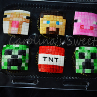 Minecraft Cupcakes Chocolate Cake Chocolate Ganache With Fondant Minecraft Characters minecraft cupcakes chocolate cake chocolate ganache with fondant minecraft characters