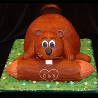 Grooms Cake - Beaver This was a bit of a challenge for me. I must have stood in front of the cake for 20 minutes, with knife in hand trying to figure out what...