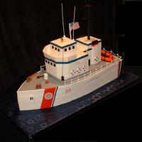 U.s. Coast Guard Ship This was made to celebrate a birthday and going away party for a guy who just joined the U.S. Coast Guard. Everything on the cake was...