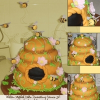 Fondant And Gumpaste Final Project It's a honey cake. Get it? I liked the little fat bees so much. Why are gumpaste bees so much cuter than real bees? Also, I didn'...