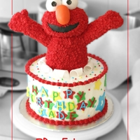 "Surprise!  I was asked for ""an Elmo cake."" I only ever had one client that was specific with her orders, and this was not one of them. Elmo..."