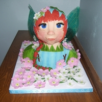 Fairy Bust My very first 3 D bust cake. Fondant covered,Gumpaste flowers, gelatin wings /eyelashes, everything hand sculpted.