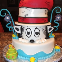 Dr. Seuss Birthday  I made this cake for my son's entire kindergarten class in honor of Dr. Seuss birthday. I received wonderful ideas from Cake Central....