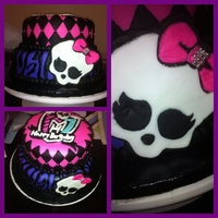 Monster High Birthday Cake Birthday cake I made fot a friend of mine. All MFF turned out amazing!