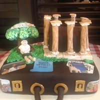 Greece Vacation Cake Neil's sweet wife wanted a cake that highlighted their trip to Greece. She wanted the acropolis and him sitting under an olive tree. I...