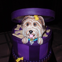 "Pumpkin The Yorkie Mini-Cake 6"" cake"