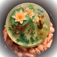 Fishtank Cake Done In 100 Gelatinflowers And All Fishtank cake done in 100% gelatin..flowers and all.