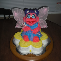 Abby Cadabby Cake make out of Pooh pan that I trimmed and decorated. Covered in BC