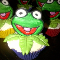 Kermit Cup Cakes