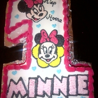"Number Cakes ""minnie"""