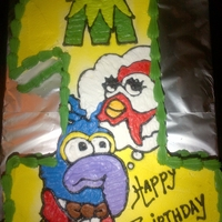 "Number Cakes ""muppets"""