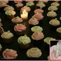 Glass Slipper Cupcakes  I made these cupcakes for a cinderella themed bridal shower. I think I made about 70 little gumpaste slippers all by hand. painted with...