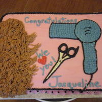 Hairdresser Graduation   all buttercream