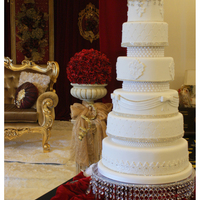 6 Tiers White Cake Perfect Frosting at its finest!