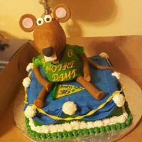 Muppetnotre Dame Cake This Is Rizzo The Rat Made Of Rice Krispie Treat And Covered In Fondant Cake Was Buttercream And Fondant Covered Muppet/notre dame cake. This is Rizzo the Rat made of rice krispie treat and covered in fondant. Cake was buttercream and fondant covered