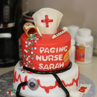 Nurse Graduation Cake Someone found this cake on here and wanted me to duplicate..So I did my best! All buttercream with fondant accents