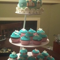 "Nursery Rhyme Cake   A baby shower cake....I was proud of the ""pigs"""
