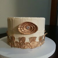 Gatsby Inspired  I made this cake this weekend in a class with Joshua John Russell in Seattle. It is hand textured fondant and hand molded embellishments...