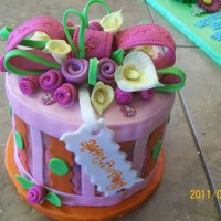 Hat Box Hat Box with a 3 year old and 2 year old in mind, this is a cake from them to their mom...